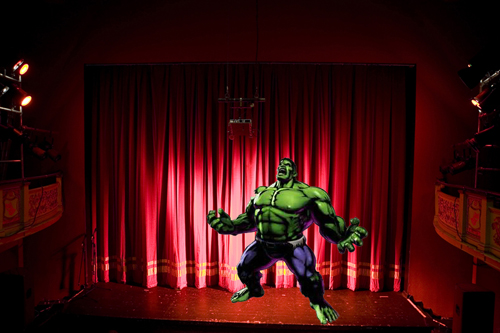Hank Forest in opening moments of Hulk musical