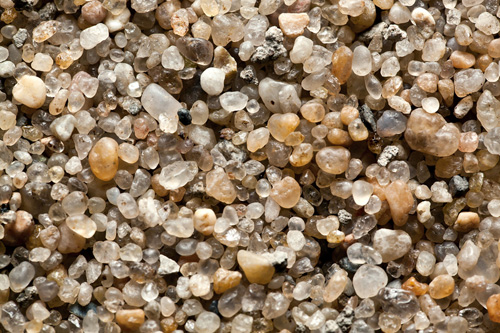 close-up of sand grains
