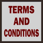 words saying 'terms and conditions'