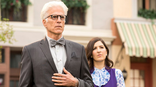 Michael and Janet in The Good Place